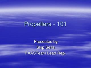 Propellers - 101