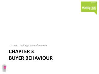 Chapter 3  buyer behaviour