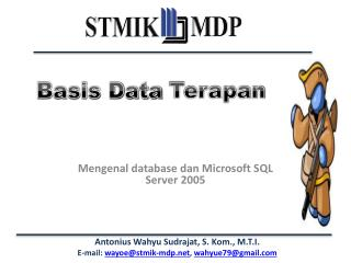 Mengenal database dan Microsoft SQL Server 2005