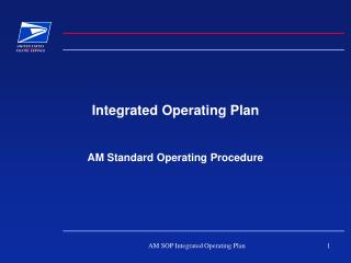 Integrated Operating Plan