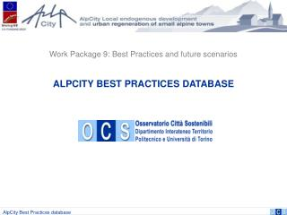 ALPCITY BEST PRACTICES DATABASE