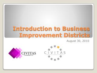 Introduction to Business Improvement Districts