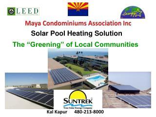 Solar Pool Heating Solution