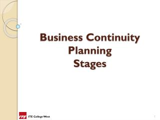 Business Continuity  Planning  Stages