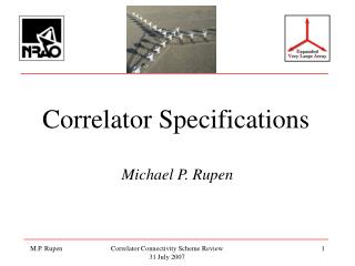Correlator Specifications