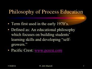 Philosophy of Process Education