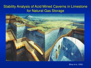 Stability Analysis of Acid Mined Caverns in Limestone for Natural Gas Storage