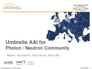 Umbrella AAI for  Photon / Neutron Community