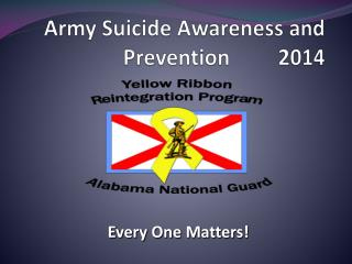 Army Suicide Awareness and Prevention         2014