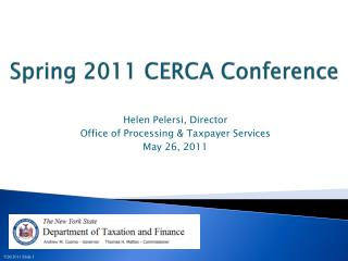 Spring 2011 CERCA Conference