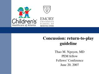 Concussion: return-to-play guideline