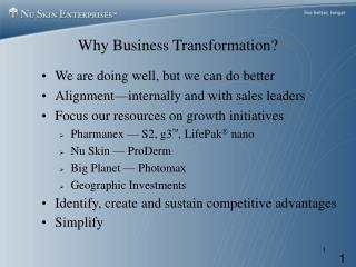 Why Business Transformation?