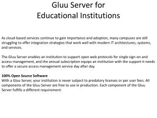 Gluu Server for Educational Institutions