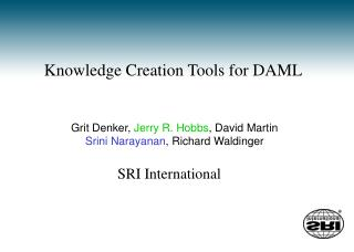 Knowledge Creation Tools for DAML