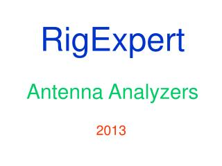 RigExpert Antenna Analyzers