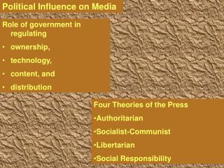 Political Influence on Media