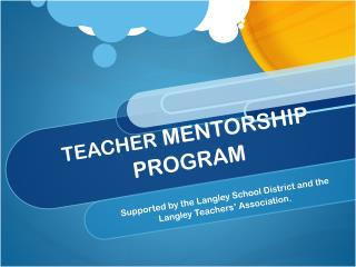 TEACHER  MENTORSHIP PROGRAM