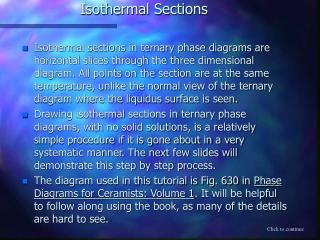 Isothermal Sections