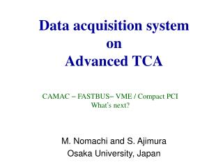 Data acquisition system  on Advanced TCA