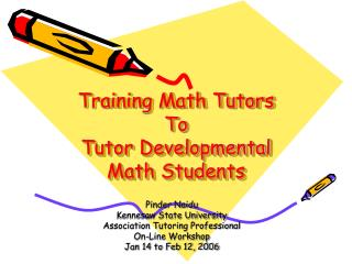 Training Math Tutors  To  Tutor Developmental Math Students