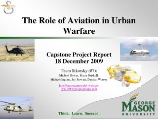The Role of Aviation in Urban Warfare