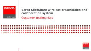 Barco ClickShare wireless presentation and collaboration system
