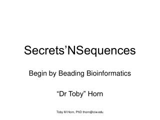 Secrets'NSequences