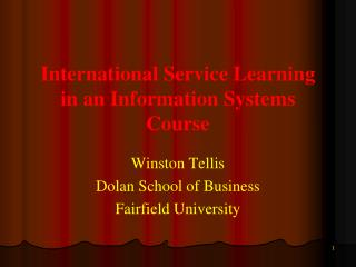 International Service Learning in an Information Systems Course