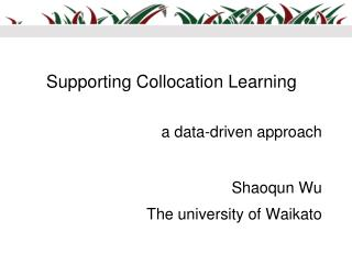 Supporting Collocation Learning