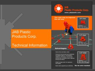 JAB Plastic Products Corp. Technical Information