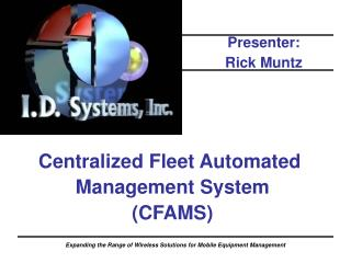 Centralized Fleet Automated  Management System (CFAMS)