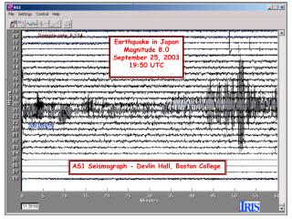 AS1 Seismograph - Devlin Hall, Boston College