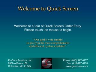 Welcome to Quick Screen