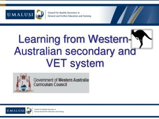 Learning from Western-Australian secondary and VET system