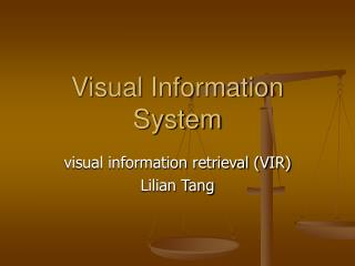 Visual Information System