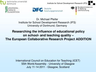 International Council on Education for Teaching (ICET)