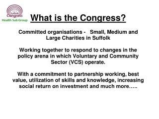 Suffolk individual VCS Organisations (Suffolk Residents)