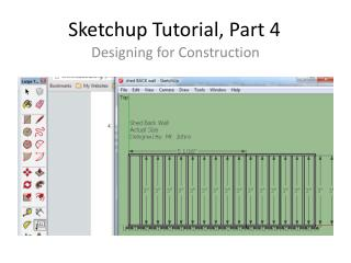 Sketchup  Tutorial, Part 4
