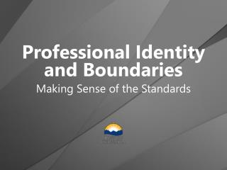 Professional Identity  and Boundaries