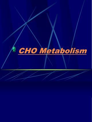 CHO Metabolism