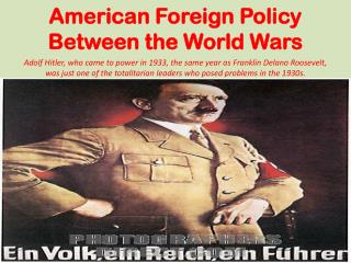 American Foreign Policy Between the World Wars