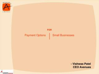 Payment Options         Small Businesses
