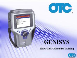 GENISYS Heavy Duty Standard Training