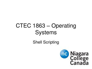 CTEC 1863 – Operating Systems