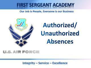 Authorized/ Unauthorized Absences