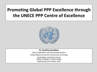 Promoting Global PPP Excellence through the UNECE PPP Centre of Excellence