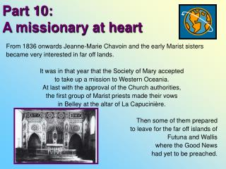Part 10:  A missionary at heart