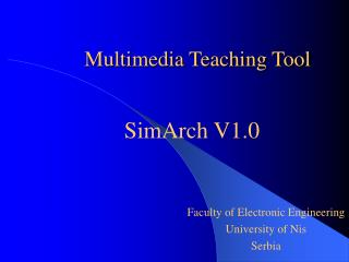 Multimedia Teaching Tool