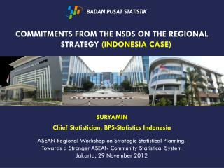 Commitments from the NSDS on the Regional  Strategy  (Indonesia Case )