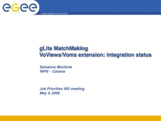 gLite MatchMaking VoViews/Voms extension: integration status